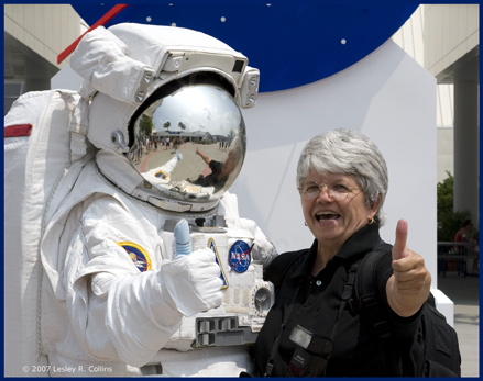 Dr. Ellen K. Rudolph at the Kennedy Space Center
