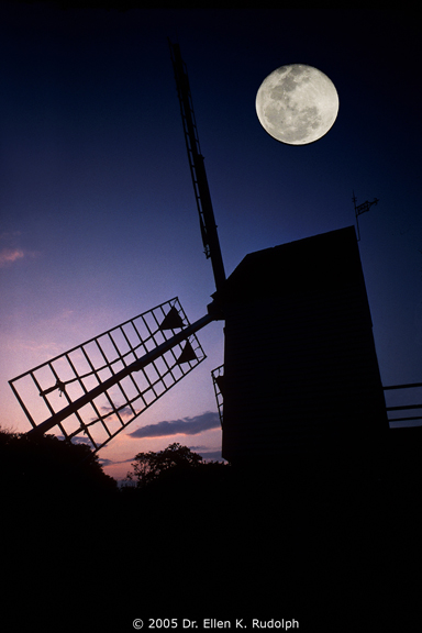 Robertson's Windmill under a Full Moon