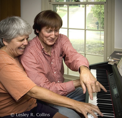 Friends at the keyboard