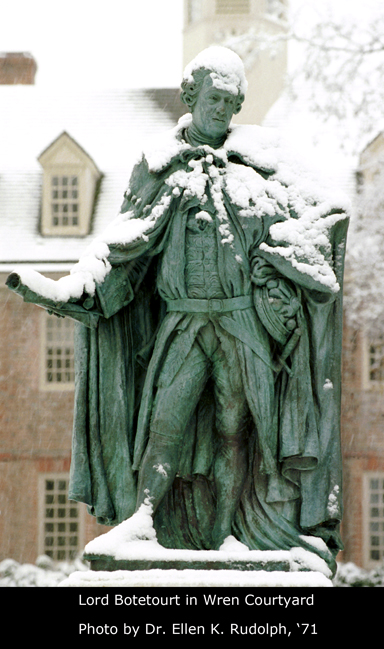 Lord Botetourt in the Wren Courtyard